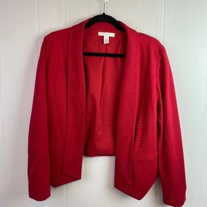 Chico's | Size 1. Open Front Red Blazer